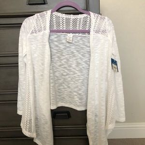 Arizona white cardigan